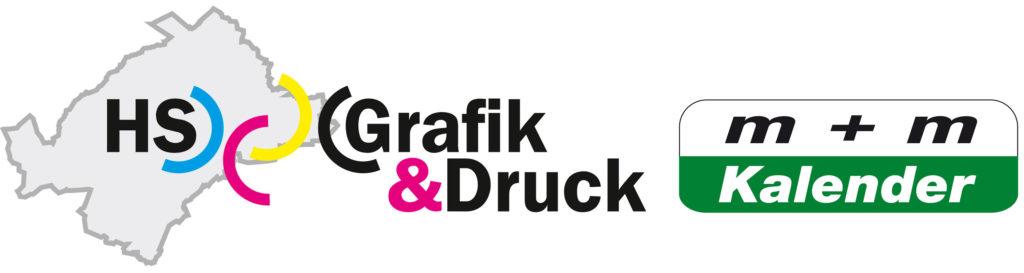 Logo HS Grafik & Druck und M+M Kalender